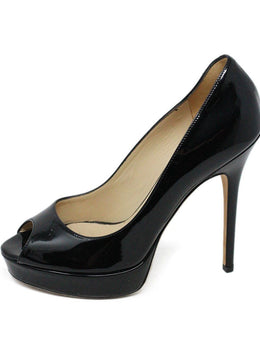 Jimmy Choo Black Patent Leather Heels sz 8