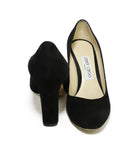 Jimmy Choo Heels US 6.5 Black Suede Shoes 3