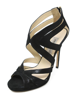 Jimmy Choo Black Suede Heels 1