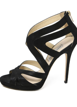 Jimmy Choo Black Suede Heels 2