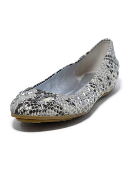 Jimmy Choo Brown Grey Snake Skin Star Studs Flats 1