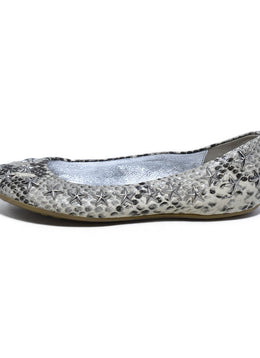 Jimmy Choo Brown Grey Snake Skin Star Studs Flats 2