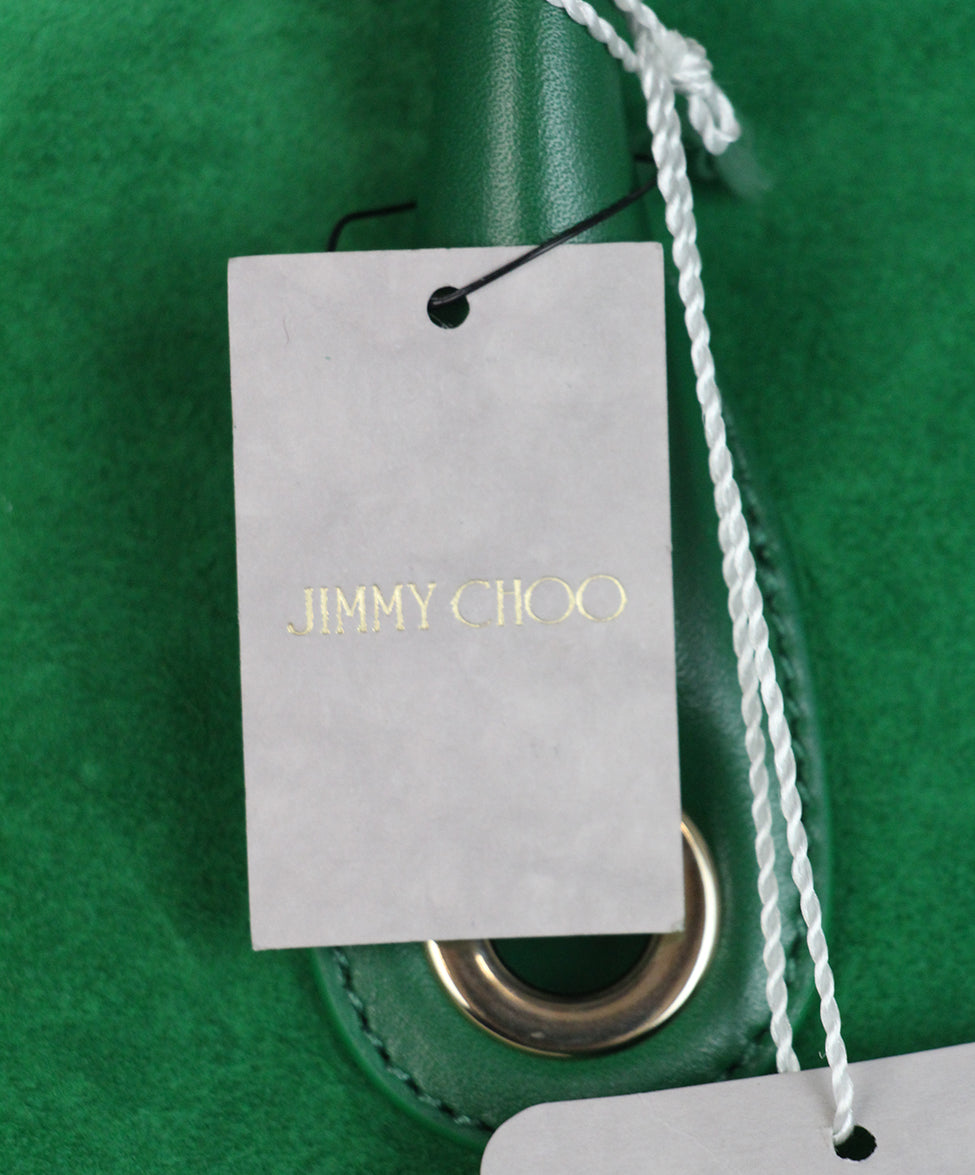 Jimmy choo green suede leather tote 11