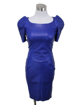 Jitrois Blue Leather Dress