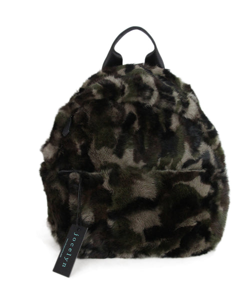 Jocelyn Camouflage Fur Backpack 1