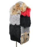 Stole Jocelyn Brown Red Black Curly Lamb Fox Outerwear 1