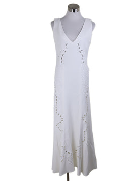 Johnathan Simkhai White Embroidery Viscose Dress