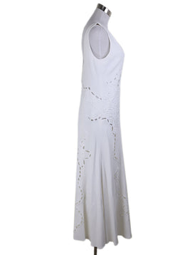 Johnathan Simkhai White Embroidery Viscose Dress 1