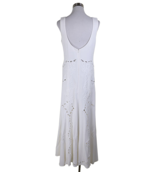 Johnathan Simkhai White Embroidery Viscose Dress 2