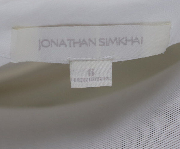 Johnathan Simkhai White Embroidery Viscose Dress 3