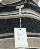 Joie Grey Beige White Wool Sweater 4