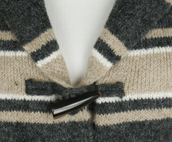 Joie Grey Beige White Wool Sweater 5