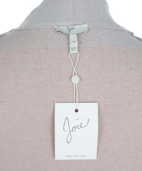 Joie Pink Grey Cotton Black Viscose Sweater 5