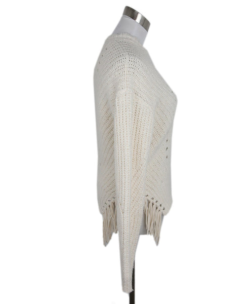 Joie White Ivory Cotton Polyamide Knit Sweater 2