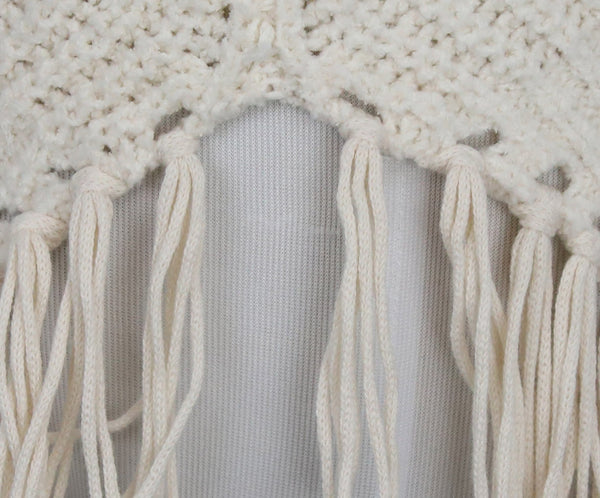 Joie White Ivory Cotton Polyamide Knit Sweater 5