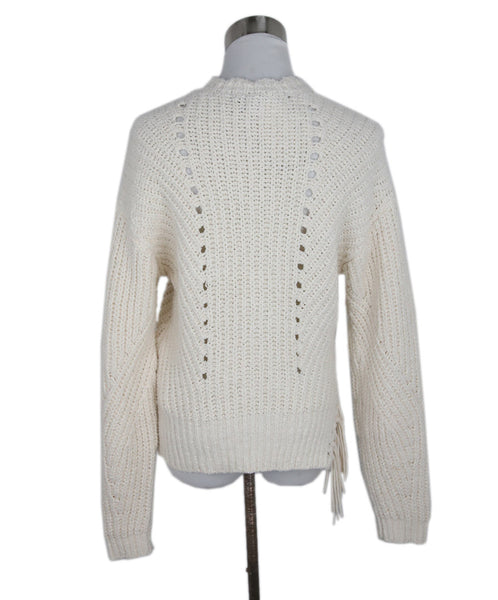 Joie White Ivory Cotton Polyamide Knit Sweater 3