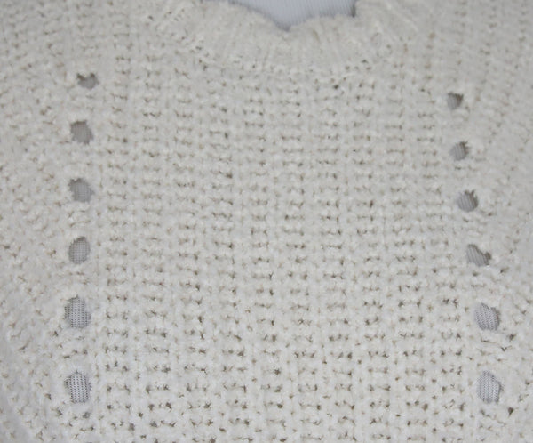 Joie White Ivory Cotton Polyamide Knit Sweater 6