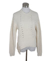 Joie White Ivory Cotton Polyamide Knit Sweater 1