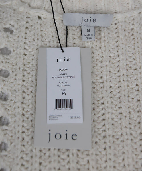 Joie White Ivory Cotton Polyamide Knit Sweater 4