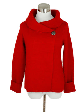 Joie Red Acrylic Polyester Wool Sweater 1