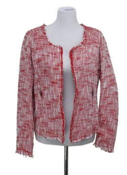 Joie Size Red Cotton Jacket 2