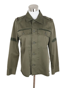 Joie Green Olive Cotton Jacket 1