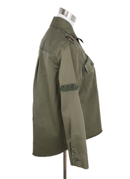 Joie Green Olive Cotton Jacket 2