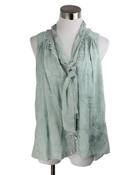 Jonathan Simkhai Green Mint Silk Top 1
