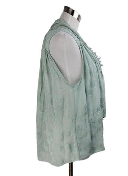 Jonathan Simkhai Green Mint Silk Top 2