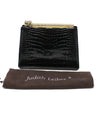 Judith Leiber Black Alligator Leather with Swarovski Cyrstal Top Handle Clutch 6
