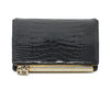 Judith Leiber Black Alligator Leather with Swarovski Cyrstal Top Handle Clutch 5