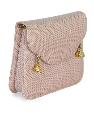 Judith Leiber Pink Lizard gold metal Shoulder bag 1