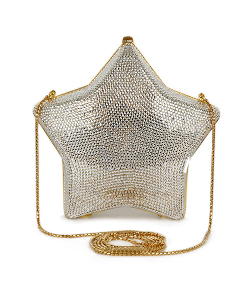 Judith Leiber Clear Crystal Swarovski Star Shape Clutch 1