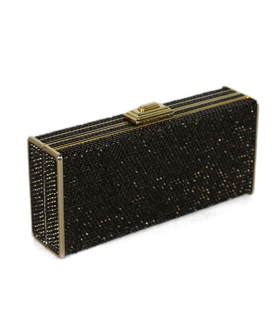 Judith Leiber brown rhinestone clutch 1