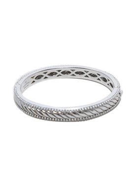 Judith Ripka Sterling Silver Jewelry Bangle Bracelet 1