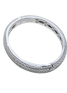Judith Ripka Sterling Silver Jewelry Bangle Bracelet 2