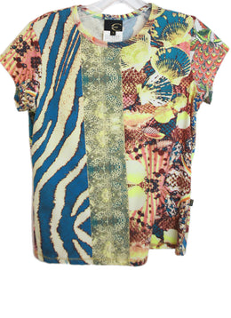 Justcavalli Multi Color Print Cotton Top 1