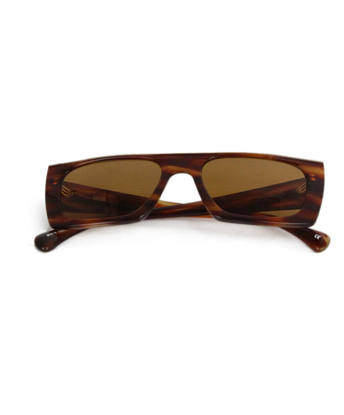 Kaleos Eyehunters brown tortoise white trim sunglasses 1