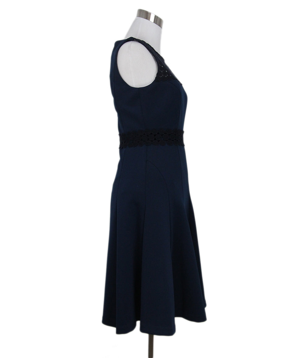 Karl Lagerfeld blue navy lace trim dress 2