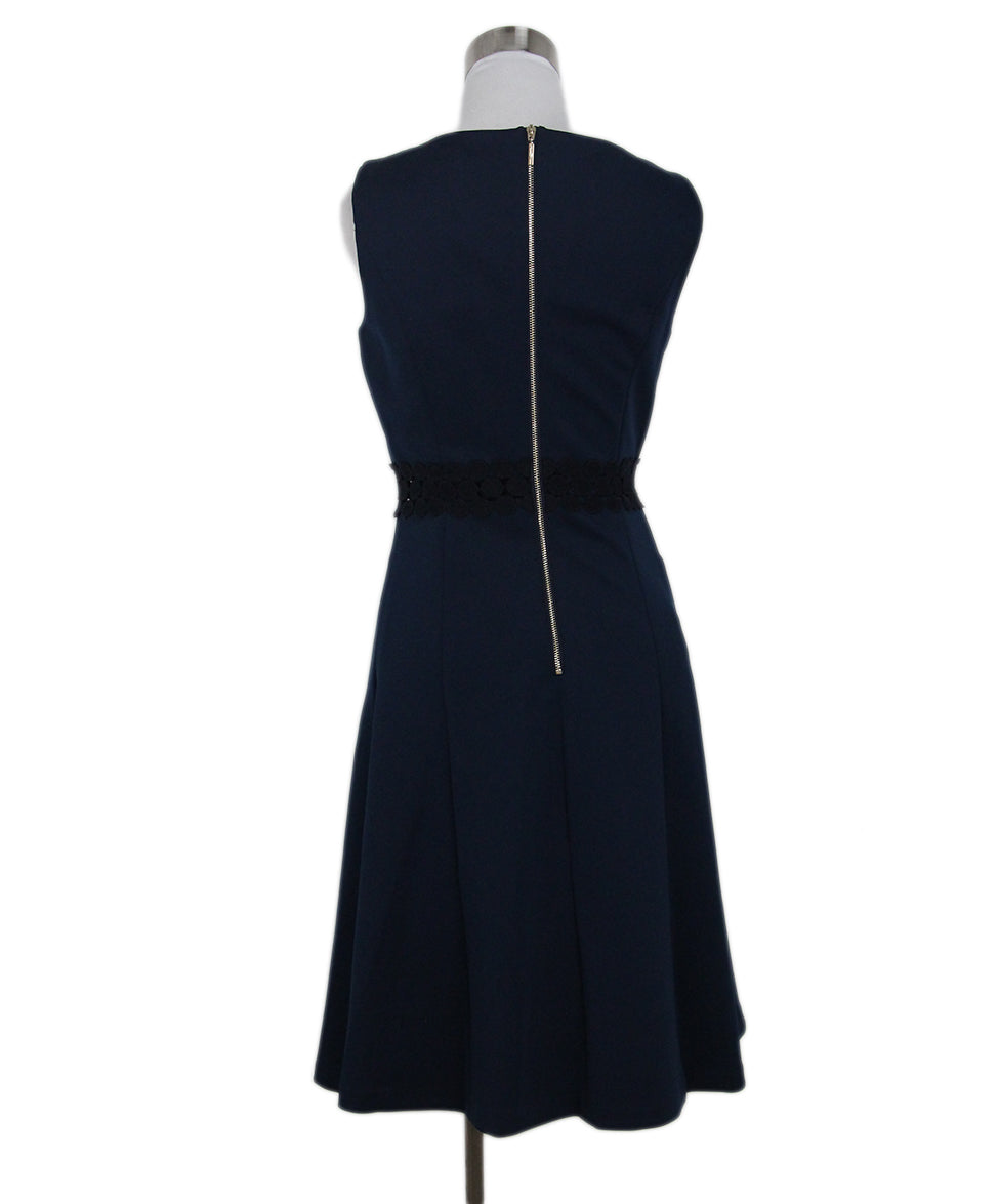 Karl Lagerfeld blue navy lace trim dress 3