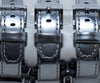 Karl Lagerfeld Metallic Silver Leather Stainless Steel Zippers Studded Watch 4