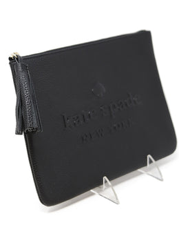 Kate Spade Black Leather Tassel Cosmetic Case 2