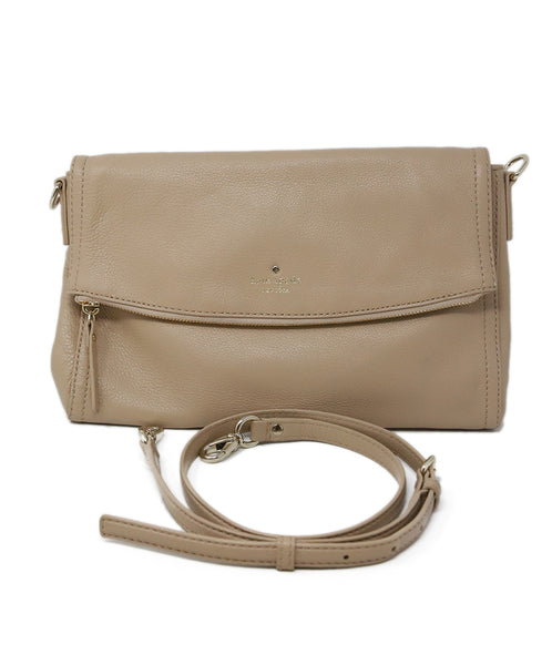 Kate Spade Neutral Beige Leather Crossbody 6