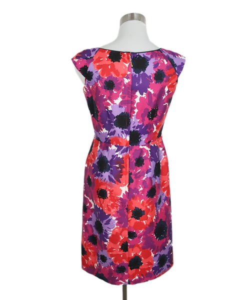Kate Spade Purple Pink Cotton Floral Dress 3