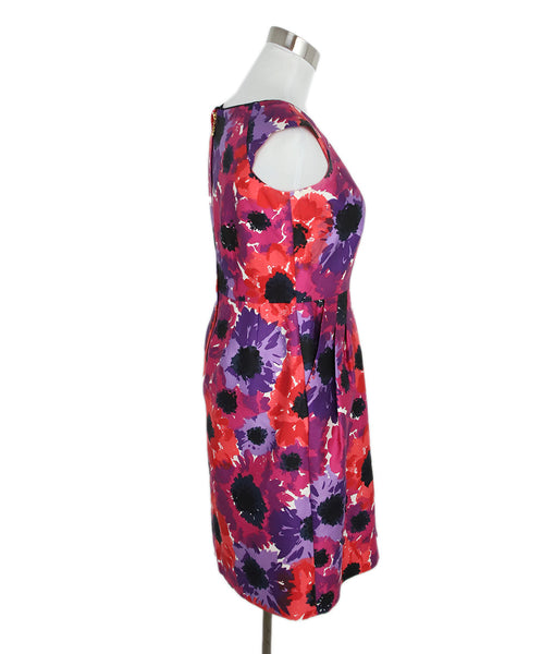 Kate Spade Purple Pink Cotton Floral Dress 2