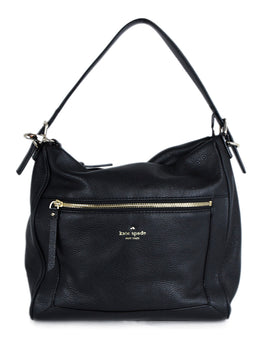 Kate Spade Black Leather Shoulder Bag Handbag 1