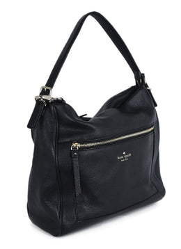 Kate Spade Black Leather Shoulder Bag Handbag 2