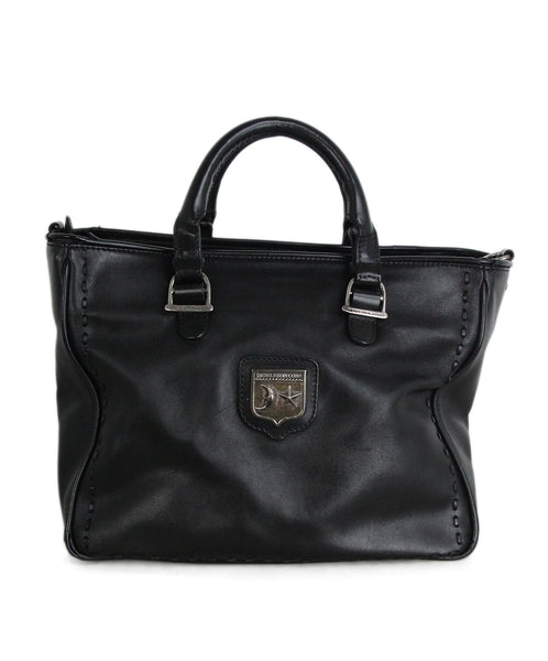 Kieselstein-Cord Black Leather Satchel 1