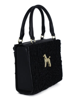 Kieselstein-Cord Black Persian Lamb Leather Handbag 2