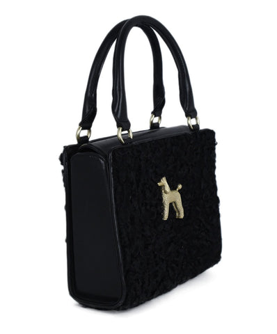 Kieselstein-Cord Black Persian Lamb Leather Handbag 1